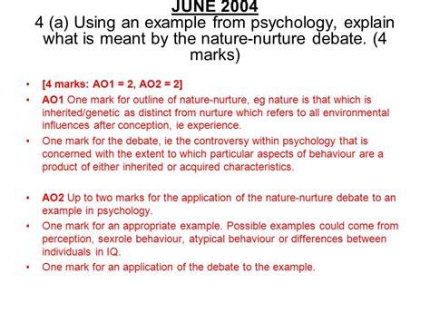 Psychology Nature Nurture Debate Essay  Agoillustratinggq Free Nature Nurture Essays And Papers Nature Vs Nurture Essay Join A  Neverending Debate